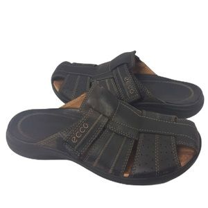 ECCO | Sandals Fisherman slides brown leather 41